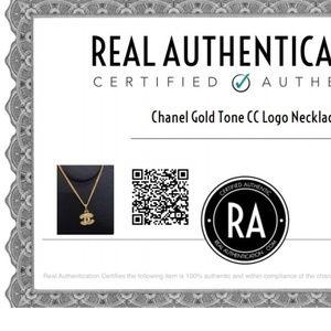 *FIRM*Authentic Chanel CC Logo Rhinestone Necklace